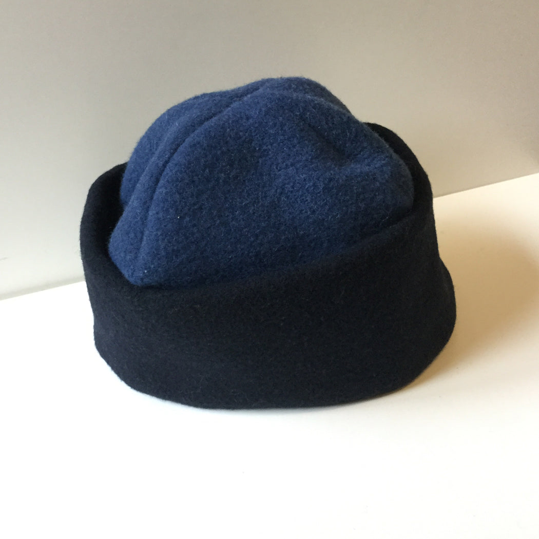 Midnight Blue-Heather Blue Wool Mix Reality Studio Hat  Size Os