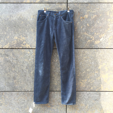Denim Blue Corduroy Lee Straight Fit Jeans  Size 32