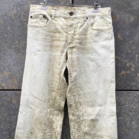 Beige Denim Roberto Cavalli Straight Fit Jeans  Size 32