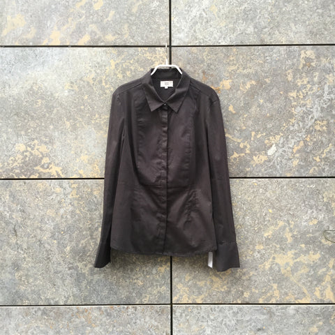 Black Cotton Mix Independent Shirt Stitching Detail Size M/L