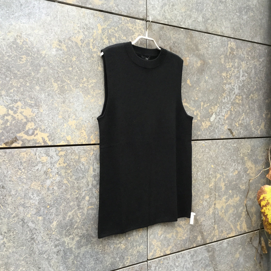 Black Wool COS Sweater Oversized Sleeveless Size S/M