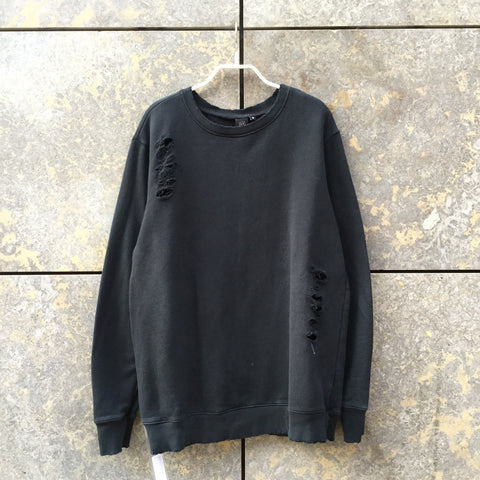 Black Cotton Independent Sweatshirt Cut Up Size M/L