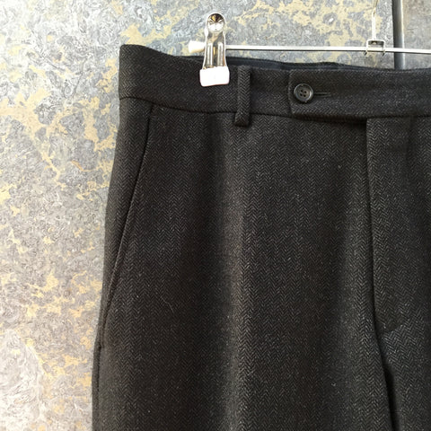 Brown Wool / Polyester Mix Vintage Trousers  Size 32