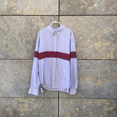 Blue-White Cotton Band of Outsiders Shirt  Size L