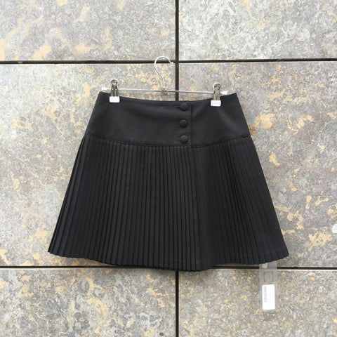 Black Polyester Mix Independent Tennis Skirt Pleated Size 28/29