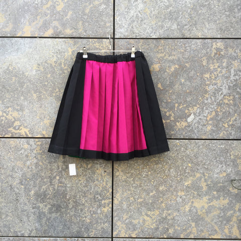 Colorful Polyester Vintage Vintage Skirt Pleated Size 26/27