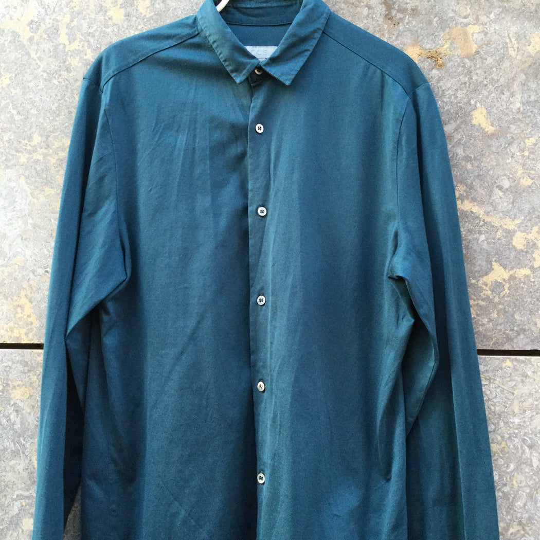 Teal Cotton COS Shirt  Size S/M