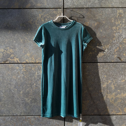 Faded Green Velvet Weekday Slip Dress  Size S/M