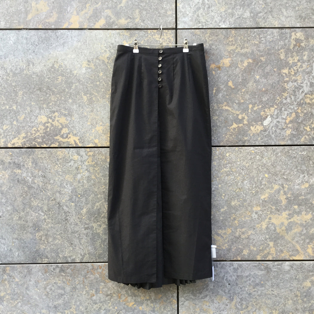 Black Polyester Mix Independent Maxi Skirt  Size 32/33
