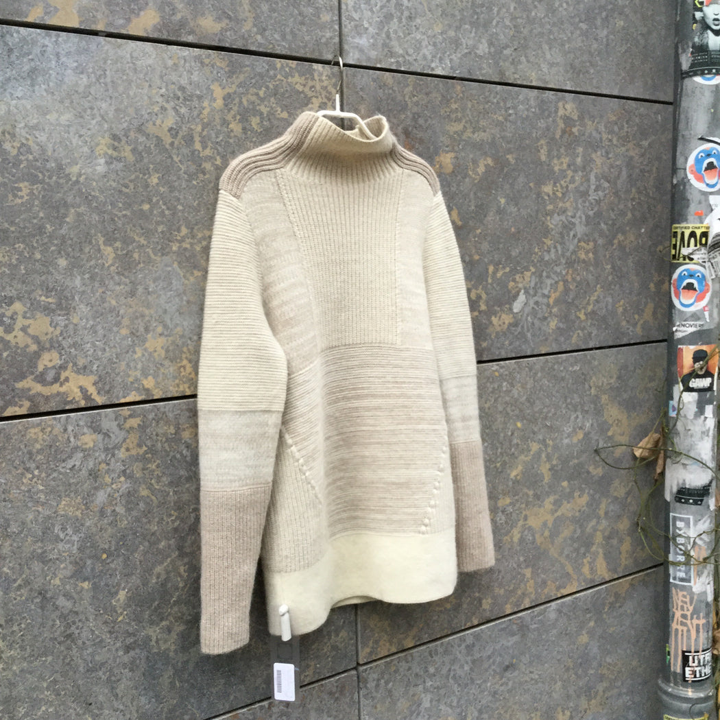 Beige Brown Wool Mix Banana Republic Sweater Turtle Neck Size S/M