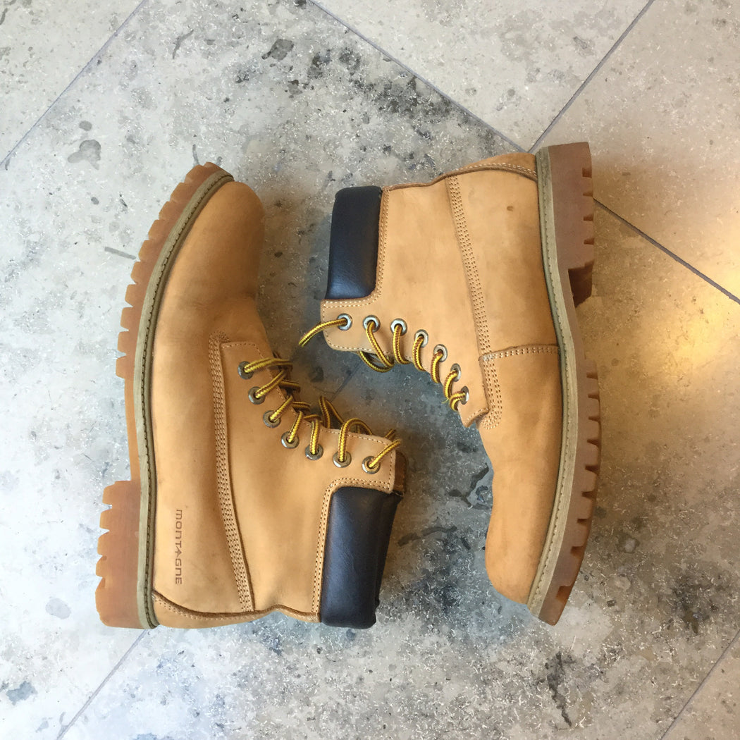 Tan Leather Vintage Boots  Size 44