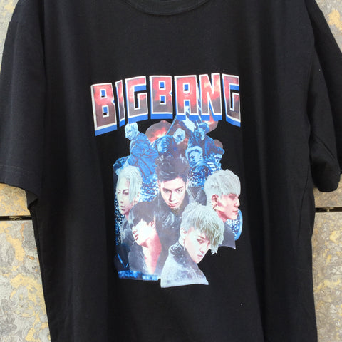 Black Cotton / Poly Mix Band Merchandise T-shirt  Size M/L
