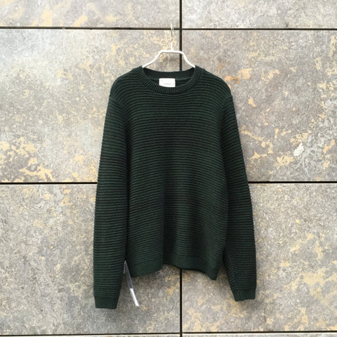 Moss Green Cotton Mix Topshop Sweater  Size Xs