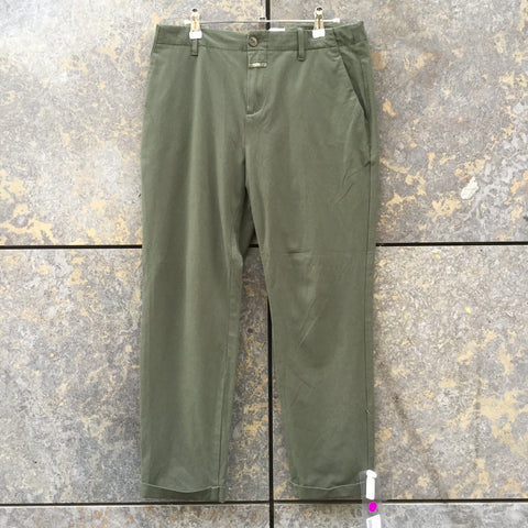 Sage Cotton Closed Trousers  Size 29/30