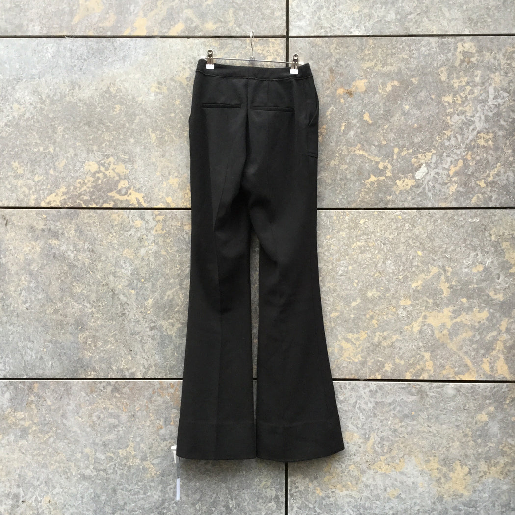 Black Polyester Modern Independent Designer Trousers  Size 28/29
