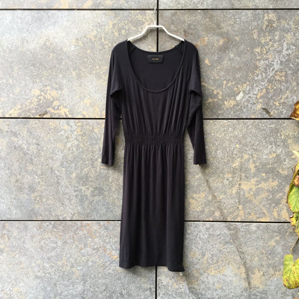 Black Cotton Mix Henrik Vibskov Midi Dress  Size S/M