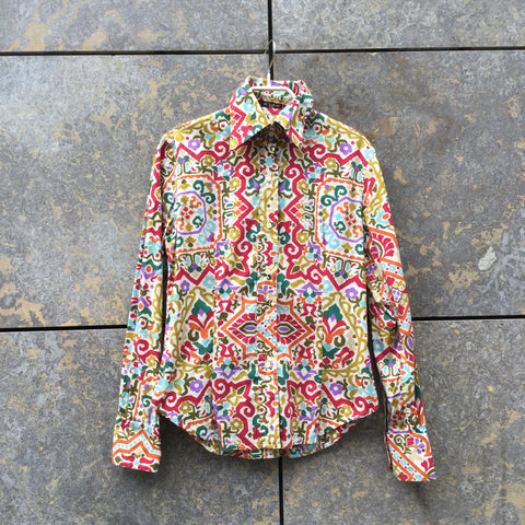 Colorful Cotton Etro Shirt  Size XS/S