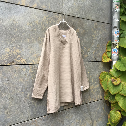 Beige Synthetic Vintage Top long sleeve Oversized Size Os
