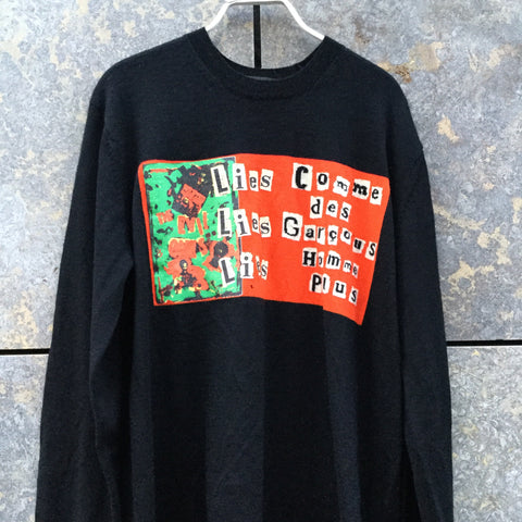 Black-Colorful Wool Comme Des Garcons - Homme Light Sweater  Size L/XL