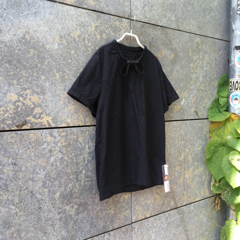 Black Cotton Independent Blouse Collar Detail Size M/L