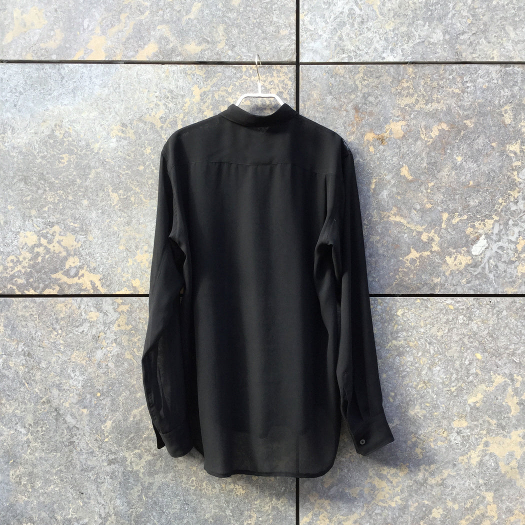 Black Polyester Mix Comme des Garcons - Homme Shirt  Sheer Size S/M