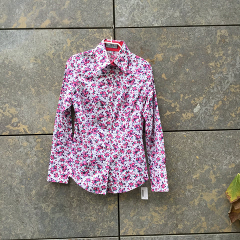 Colorful Cotton Mix Contemporary Shirt  Size S/M