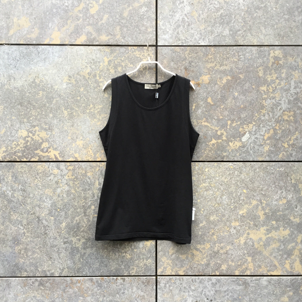 Black Cotton Mix Independent Tank  Size L/Xl