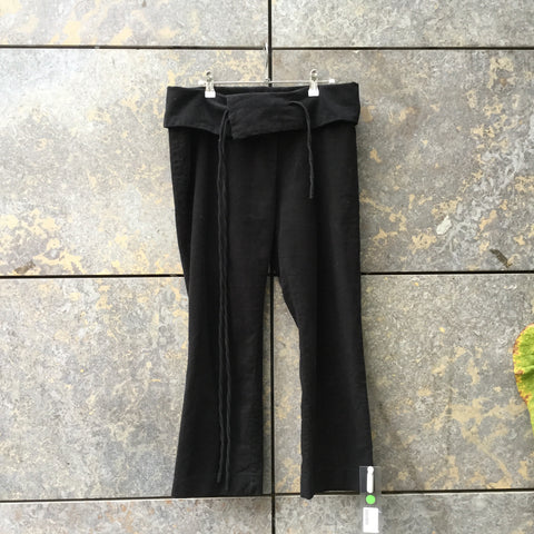 Black Cotton Isabel Marant Trousers Conceptual Detail Size 29/30