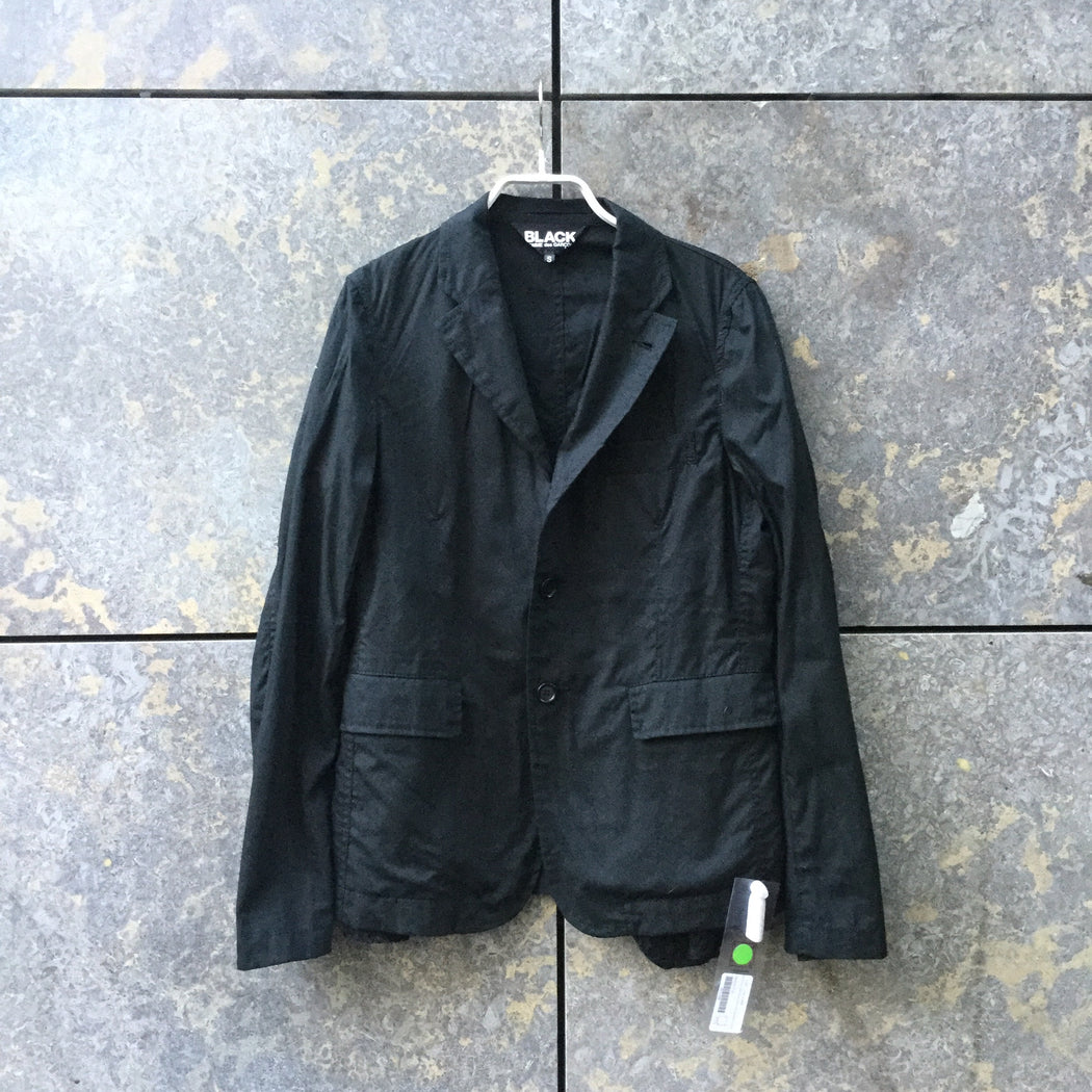 Black Cotton Mix Comme Des Garcons Blazer Lace Detail Size XS/S