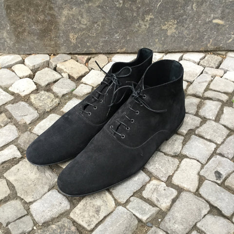 Black Suede Christian Dior Ankle Boots  Size 7