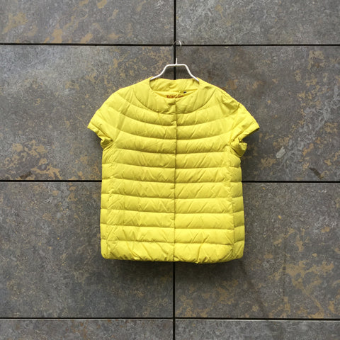 Yellow Down Vintage Short Sleeve Jacket  Size L/XL
