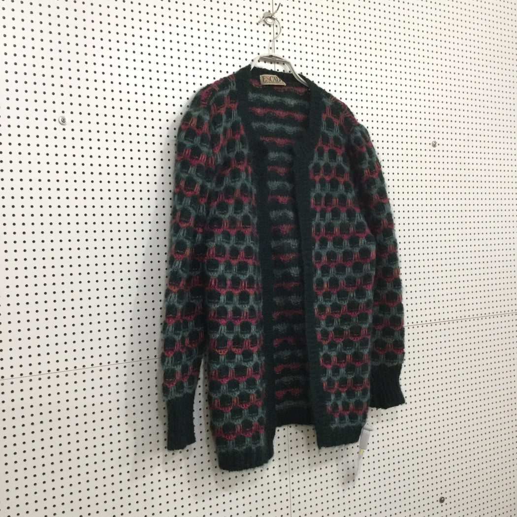 Dark Green-Colorful Wool Escada Sweater  Size L/XL