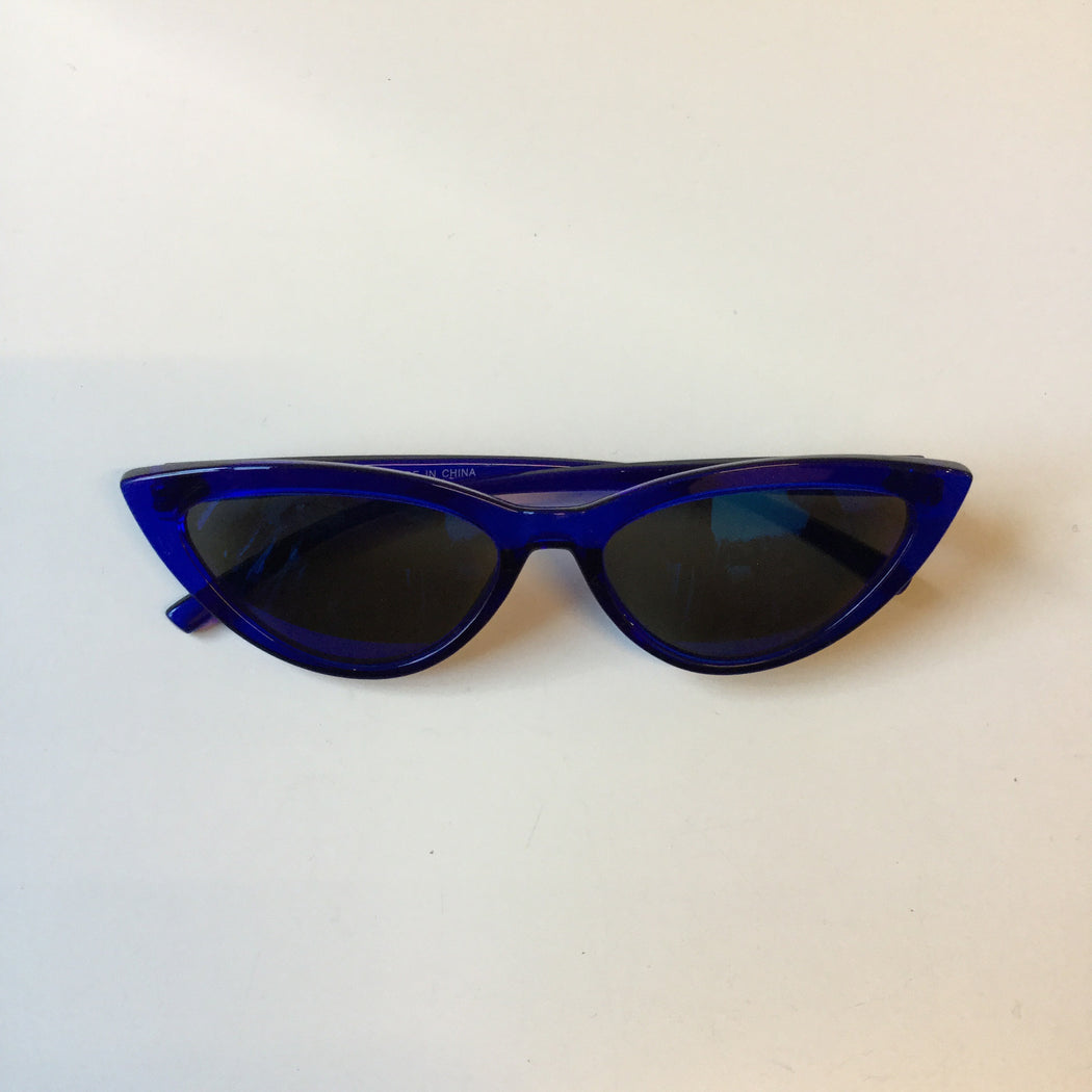 Royal Blue Plastic Contemporary Main Sunglasses