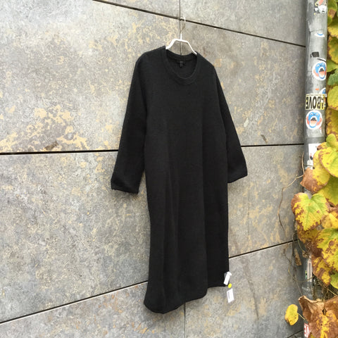 Black Wool COS Sweater Dress Elongated Size S/M