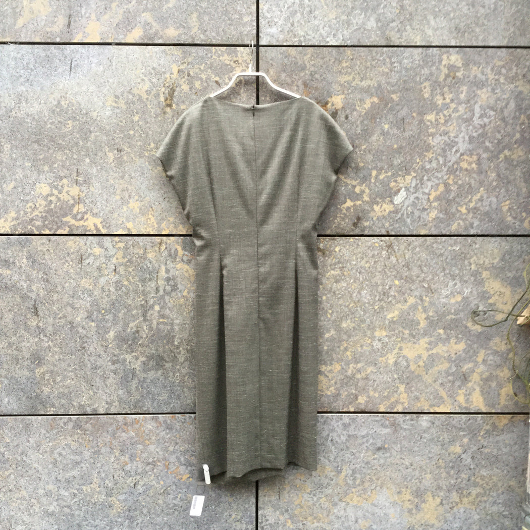 Grey Wool / Silk Mix Escada Cocoon Dress  Size M/L