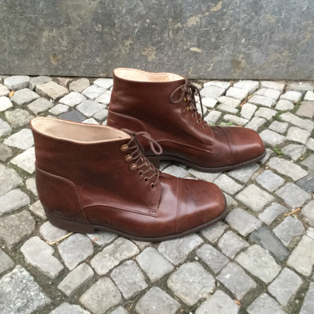 Brown Leather Independent Ankle Boots  Size 10.5