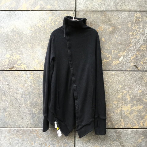 Black Cotton Mix 11 By Boris Bidjan Saberi Jacket Conceptual Detail Asymetric Size S/M