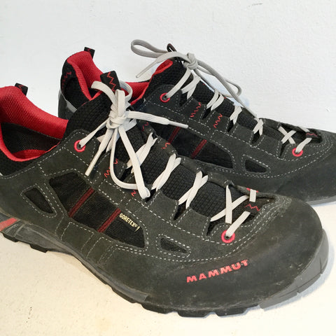 Dark Grey-Deep Red Gore-Tex Mammut Sneaker Boots  Size 44