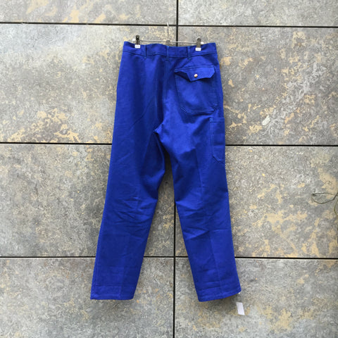 Blue-Red Cotton Mix Contemporary Main Trousers  Size 34