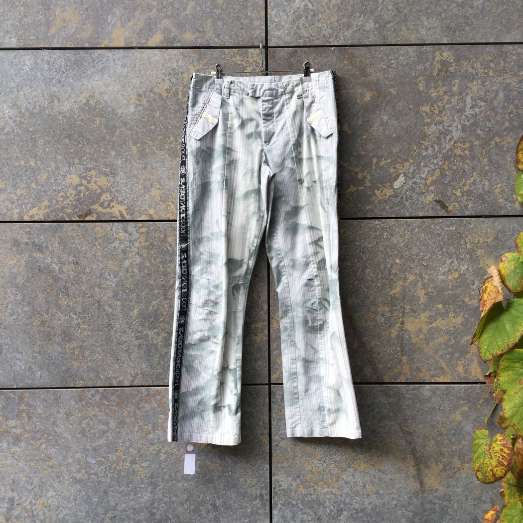 Light Sage Cotton Mix Sabotage Trousers Conceptual Detail Size 34