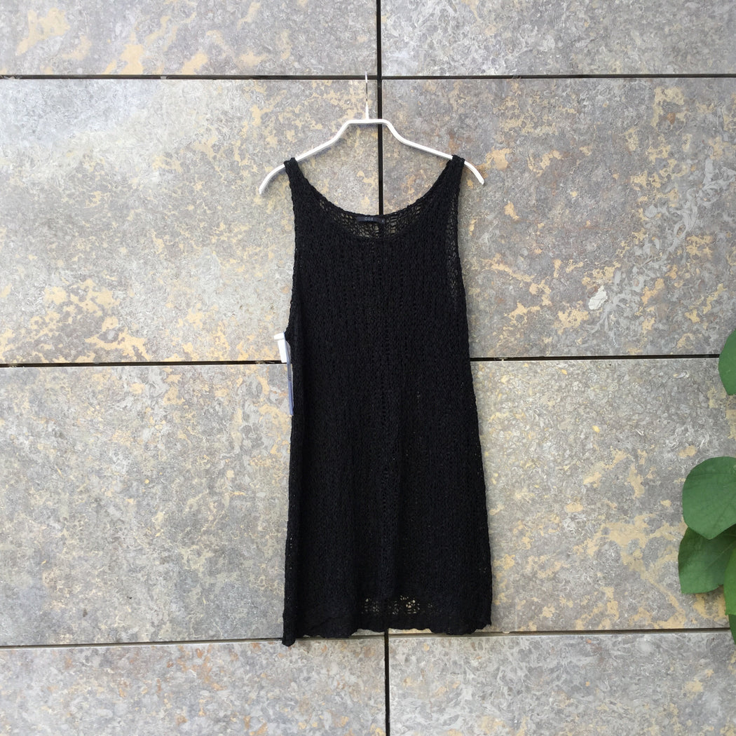 Black Cotton COS Tank Extended Size M/L
