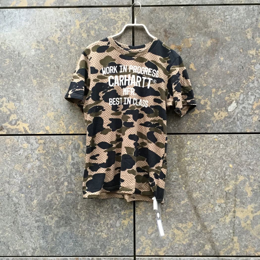 Dark Color Mix Cotton Carhartt Wip T-shirt  Size XS/S
