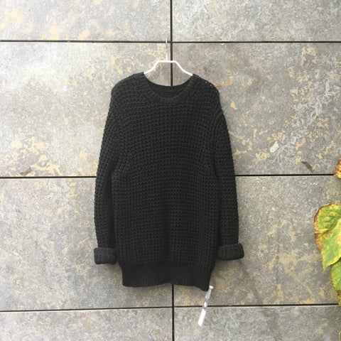 Black Cotton All Saints Sweater  Size M/L