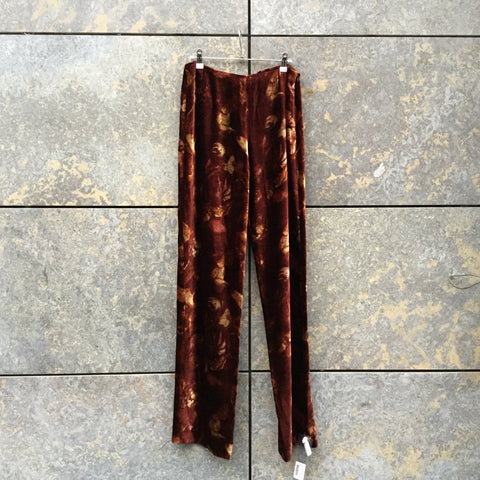 Maroon Velour Kenzo Trousers  Size 32/33