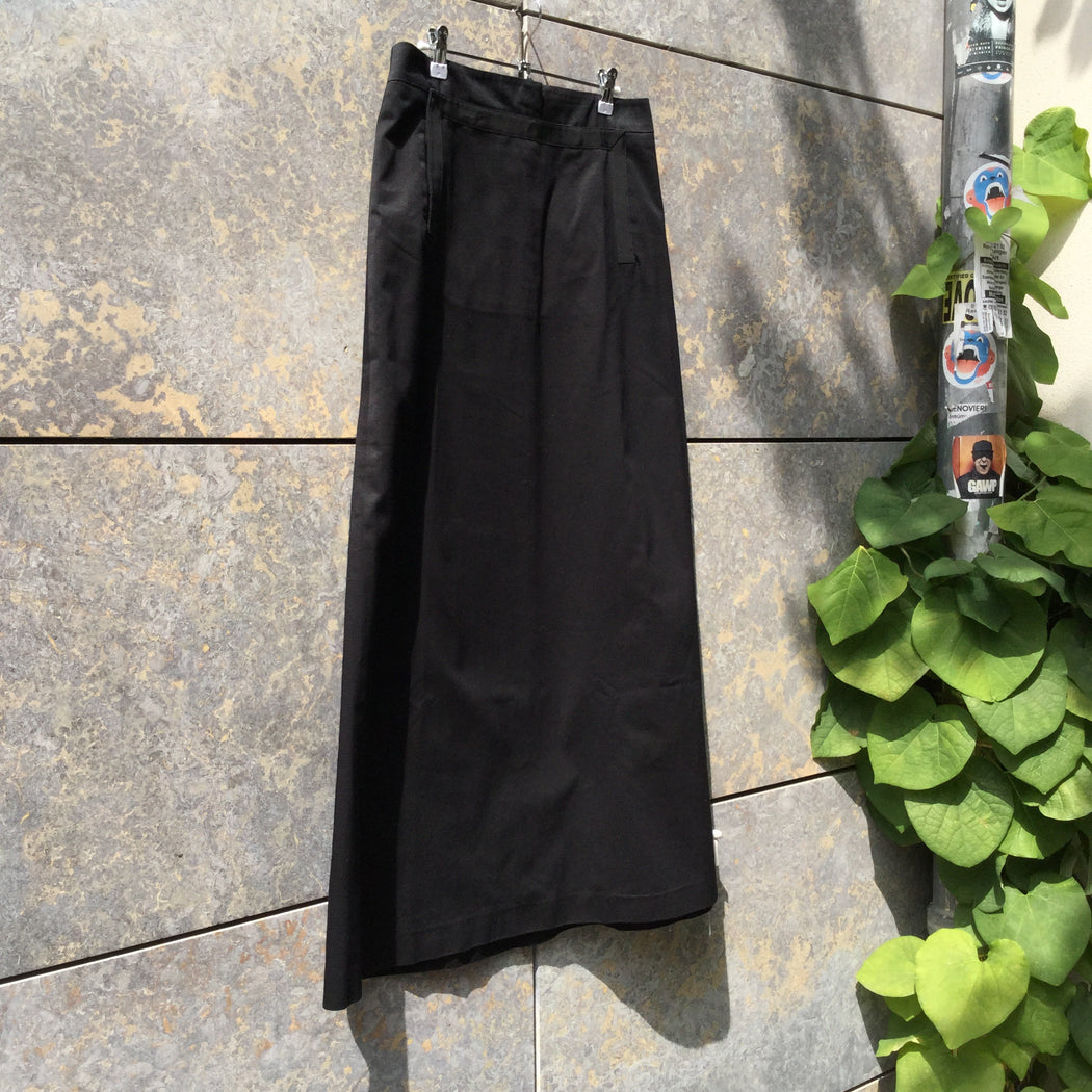 Black Cotton Marc Jacobs Maxi Skirt Pocket Detail Size 32/33