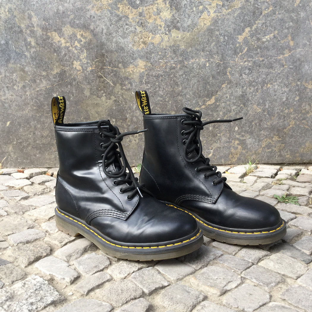 Black Leather Dr. Martens Boots  Size 9.5