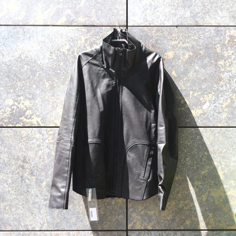 Black Leather Independent Designer Leather Jacket  Size Xl