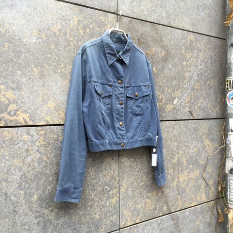 Sky Cotton Junior Gaultier Trucker Jacket Special Button Boxy Size XS/S