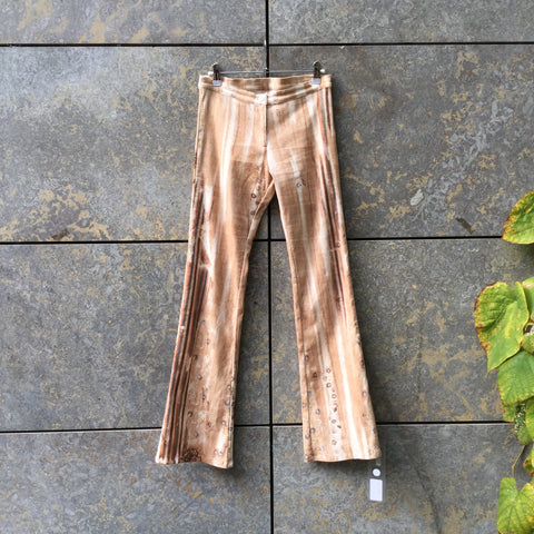 Beige-Straw Corduroy Vintage Flare Pants  Size 28/29