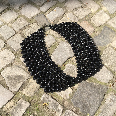 Black Stone Independent Designer Collar  Size Os
